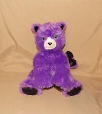 "Build A Bear Workshop Purple Cat Stuffed Plush Kitty 12"" Black Sparkle Feet"