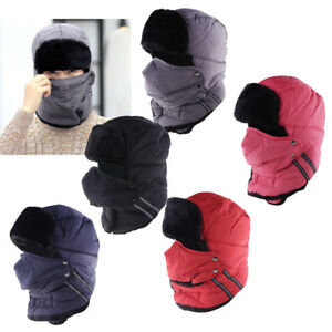 Winter Warm Trapper Hat with Mask Russian Ushanka Style Hat for Men ... 538cd37494c