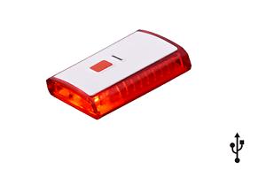 Ammaco XC-142 Arrière USB imputables DEL Cyclisme Rouge Lampe de sécurité 300 degrés View  </span>