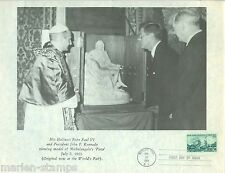 "UNITED STATES 1964 NY FAIR JF KENNEDY 8 1/2"" X 10 3/4"" PHOTO REPRODUCTION  FD CA"