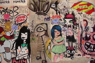 24x36 Canvas Art Miss Van-Barcelona Spain Graffiti Urban street art
