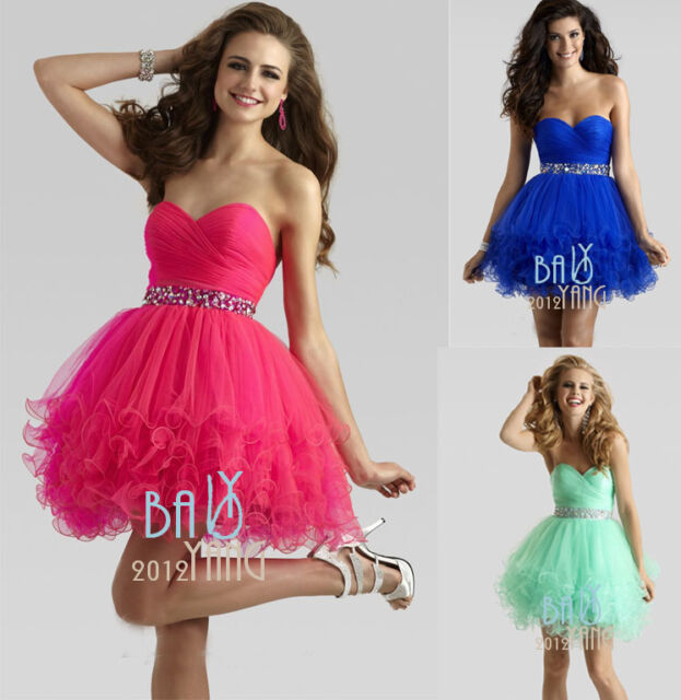 Short Mini Beaded Cocktail Dresses Party Evening Bridesmaid Formal Prom Dresses