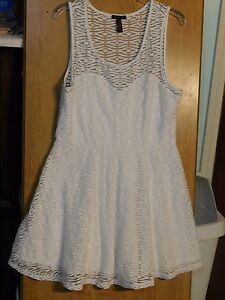 Details About Womens Short Sleeve Lace Skater Dress By Material Girl Size Xl
