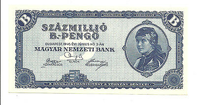 Hungary-100 Millio B.-pengo-1946/Blue_uk/The world's highest denomination note!