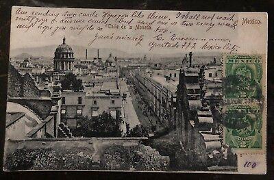 2019 Nieuwste Ontwerp 1908 Mexico City Mexico Rppc Postcard Cover To Torino Italy Coin Street Wees Vriendelijk In Gebruik