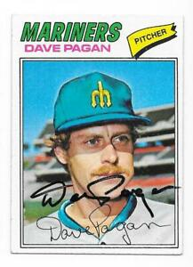 DAVE PAGAN 1977 TOPPS AUTOGRAPHED SIGNED # 508 SEATTLE MARINERS