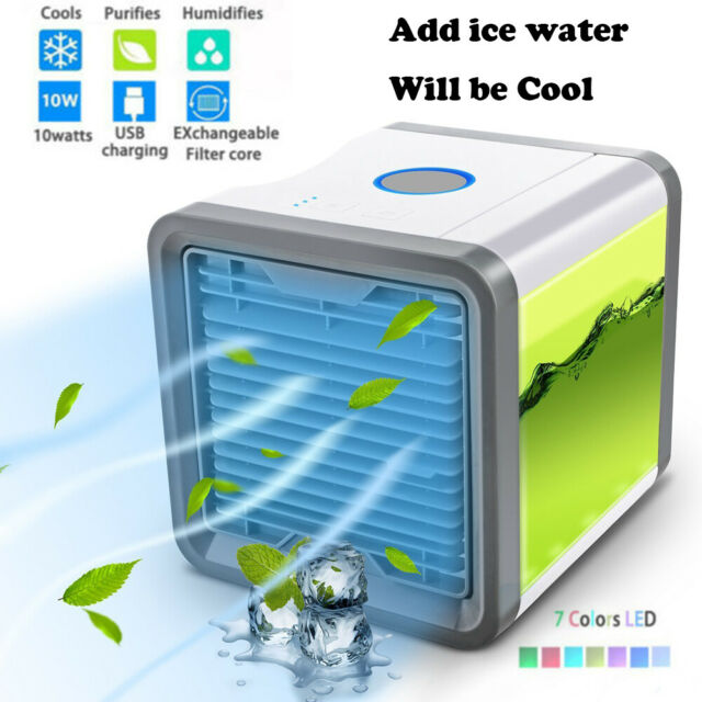 LED Portable Mini Air Conditioner Cool Cooling For Bedroom Artic Cooler Fan HOT