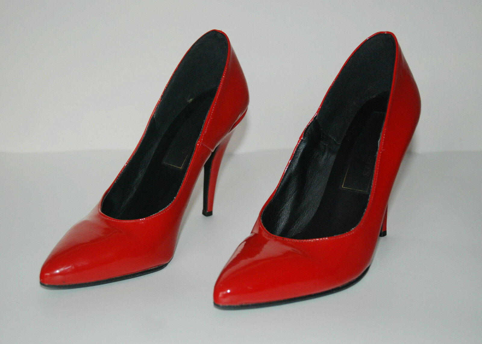 vtg ROT PATENT LEATHER high heels pumps UK6