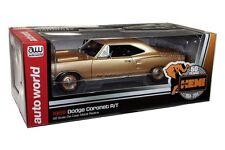 1969 DODGE CORONET R/T HEMI 426 1/18 GOLD 50th BY AUTO WORLD AMM1024
