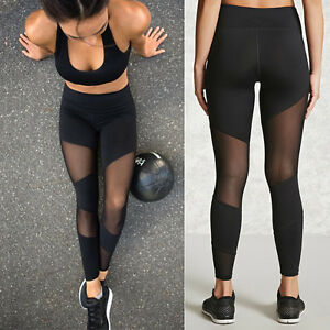 Womens-Running-Yoga-Fitness-Leggings-Gym-Sports-Pants-Compression-Trousers