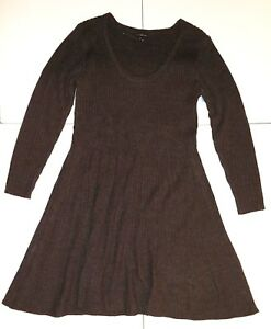 Lane-Bryant-Long-Sleeve-Fit-amp-Flare-Charcoal-Gray-Sweater-Dress-Sz-18-20