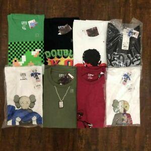 Nouveau-UNIQLO-One-Piece-MEN-039-S-a-manches-courtes-T-Shirt-T-Shirt-Graphique-S-M-L-XL