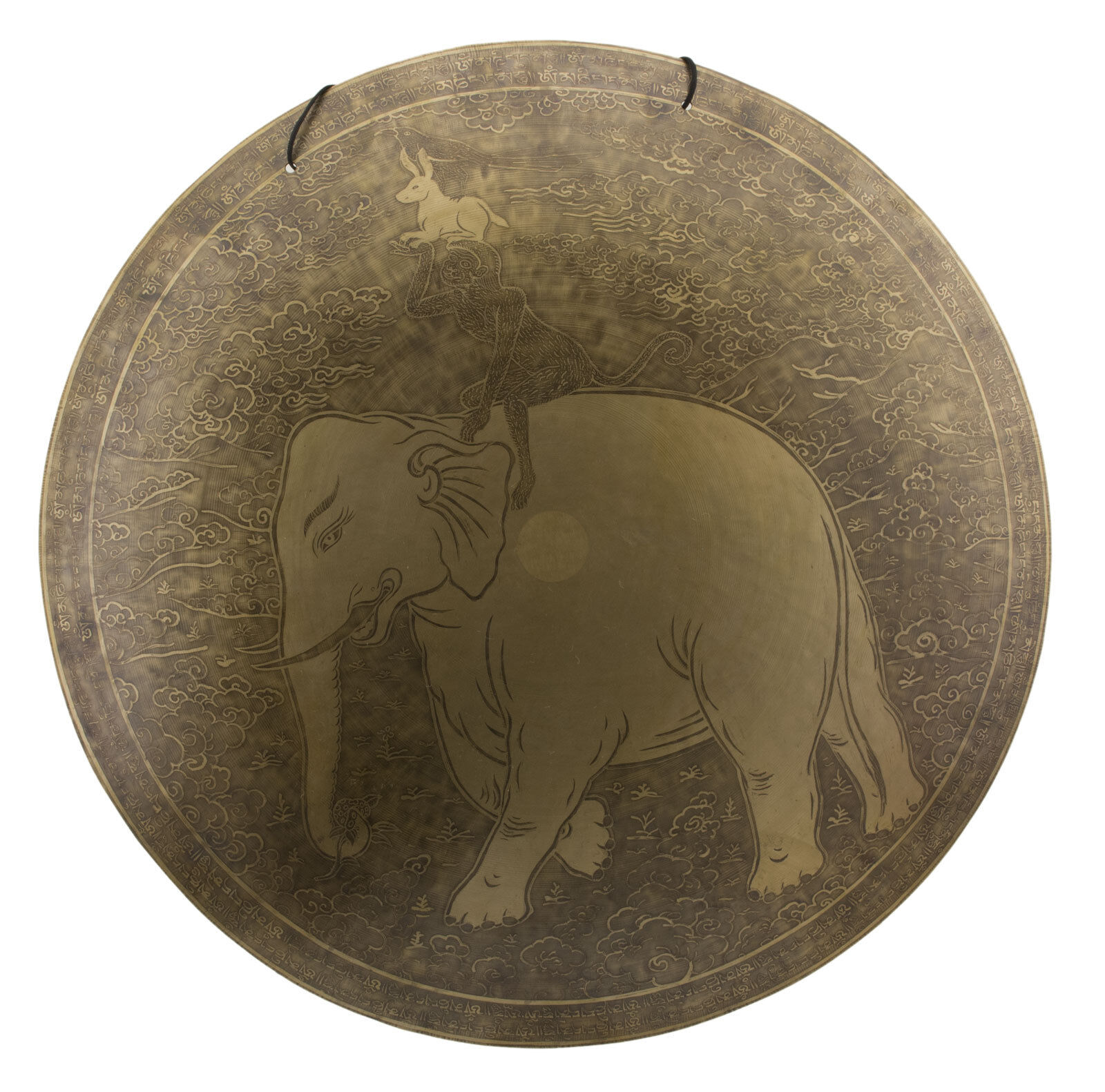 Gong tibet- Freundschaft ewige 7 Metall o 65 cm 4kg900 TIBET Nepal 25778 HG 3