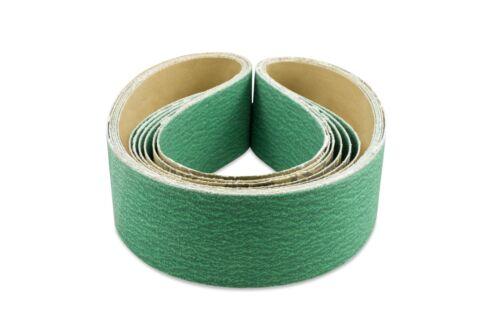 2 X 36 Inch 80 Grit Metal Grinding Zirconia Sanding Belts 6 Pack