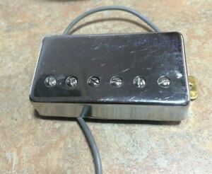 1990s Chrome Humbucker Electric Guitar Neck Pickup - 9k, 2-Lead