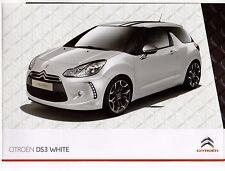 Citroen DS3 White & Black Limited Editions 2010 UK Market Sales Brochure