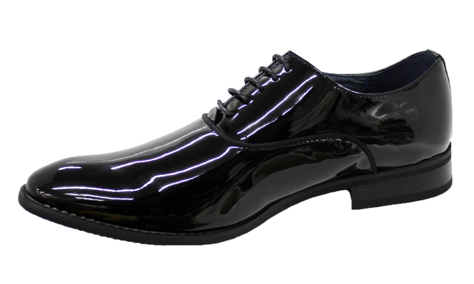 shoes men DIAMOND black LUCIDO VERNICE ELEGANTI TOP CLASS CERIMONIA da 40 a 45