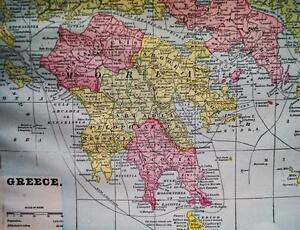 GREECE TURKEY BULGARIA ROMANIA & THE BALKANS MAP 1894 CRAM\'S ATLAS ...
