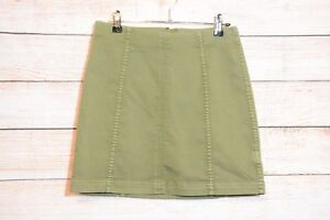 FREE-PEOPLE-Skirt-Sz-4-approx-small-6-8-green-pencil-straight-skirt