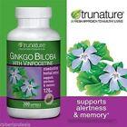 TruNature Ginkgo Biloba with Vinpocetine - 120mg 300 Softgels
