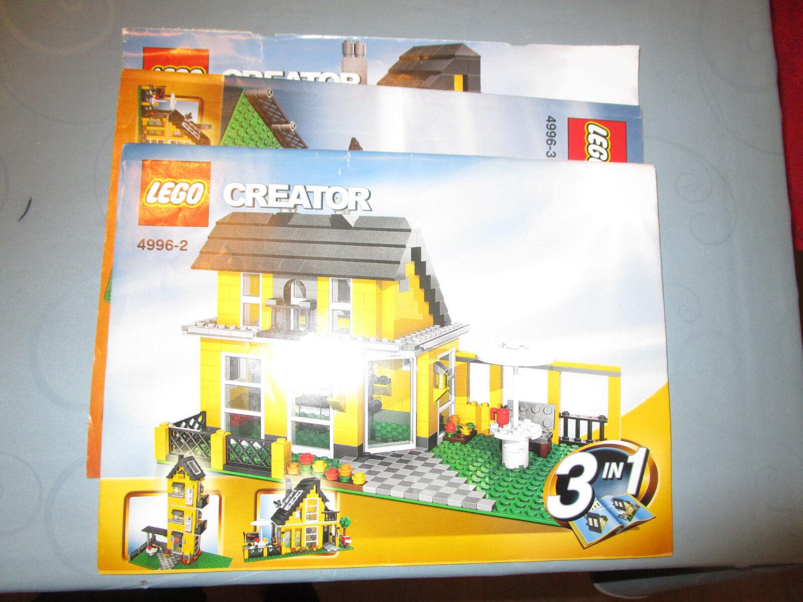 Lego creator 3in1 maison, Gîtes (4996) - Oba