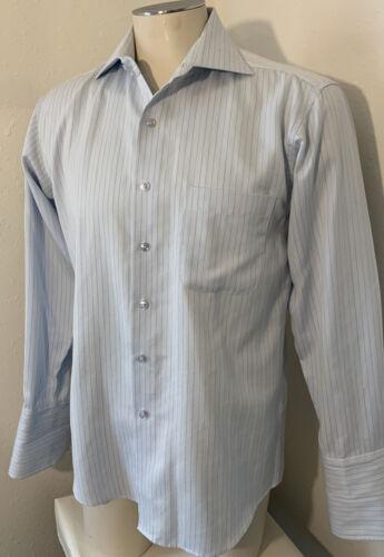 Gucci Men's Light Baby Blue Long Sleeve Dress Shir