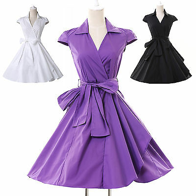 Vintage Jive Rockabilly 1950s 60s Prom Party Dress Graduation Homecoming Gown AU