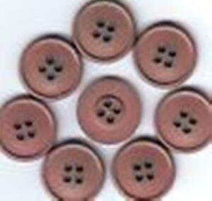 lot 6 boutons marron doré 4 trous diamètre 2,2 cm couture mercerie TC