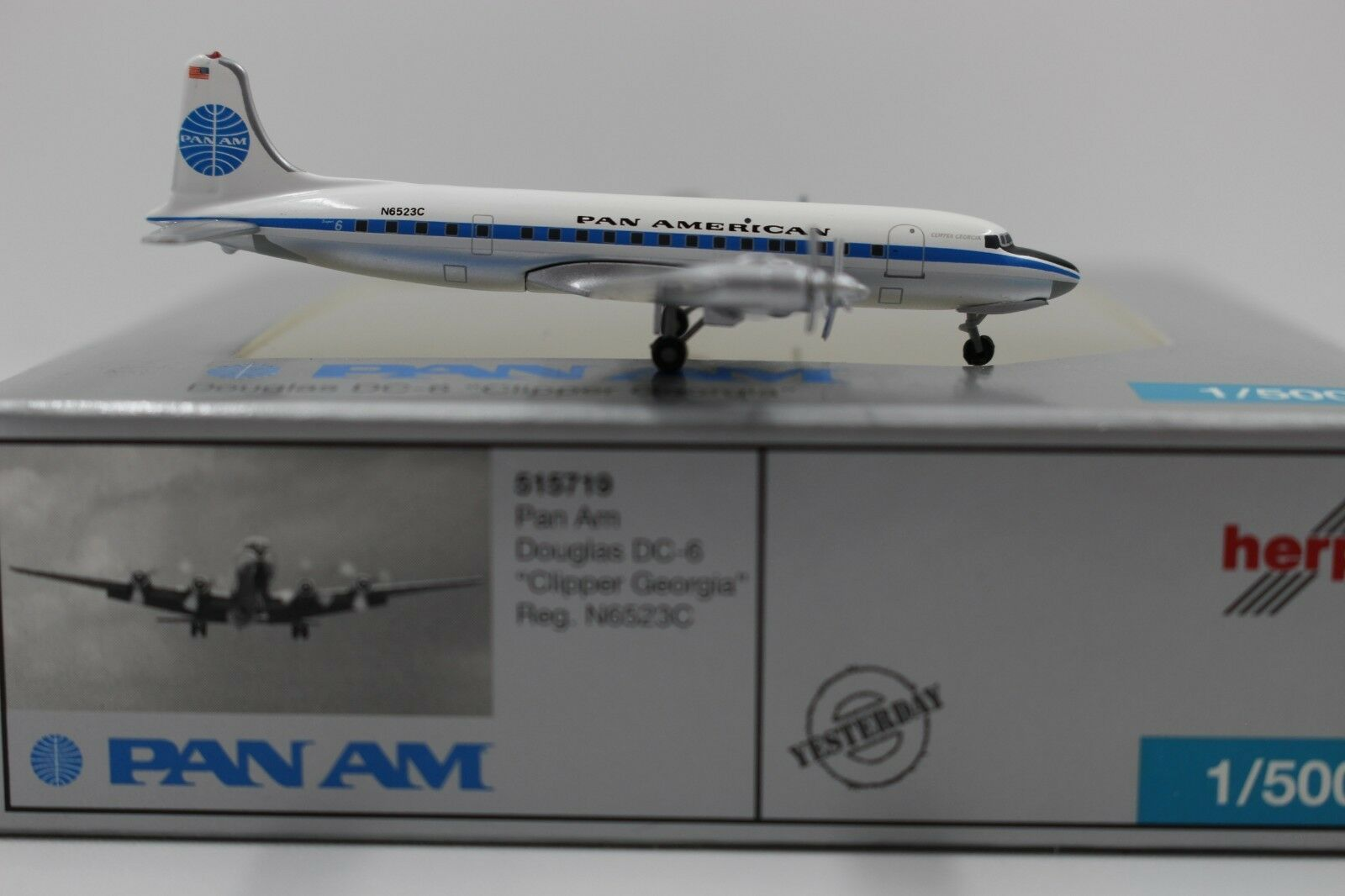 Herpa Wings 1 500 PAN AM Douglas dc-6 Clipper Georgia (515719) Limited 1000 ex.
