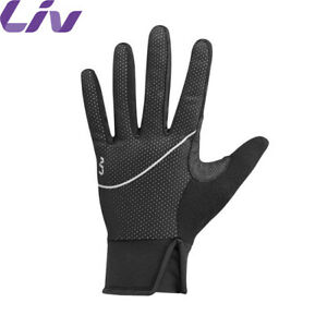 Liv Hearty Womens Long Finger Thermal Cycling Gloves   Black