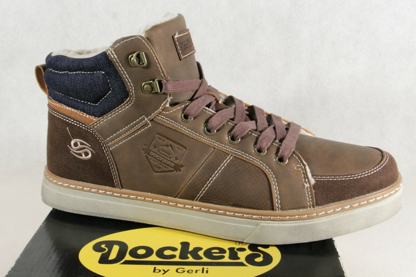 Dockers Men's Boots Lace Up Boots Boots Winter Boots Ankle Boots Brown NEW