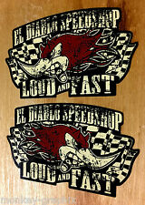 2er LOUD & FAST Speedshop Duck Oldschool Aufkleber / Vintage Sticker USA Mexico