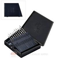 20 Piece Micro Mini Drill Bit Set Storage Case High Speed Steel Jewelry Tools