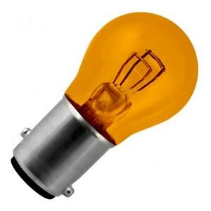 ampoule 12v 21 5w bay15d orange lampe feu stop arriere veilleuse moto scooter ebay. Black Bedroom Furniture Sets. Home Design Ideas
