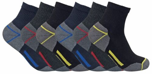 Mens Padded Reinforced Ultimate Cotton Low Cut Ankle Trainer Work Boot Socks