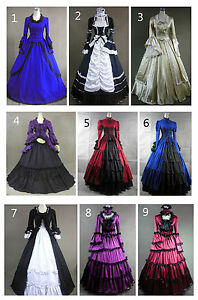 Victorian-Edwardian-Vintage-Marie-Antoinette-Lolita-Dress-Cosplay-Costume-Fancy