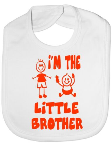 I/'m The Little Brother Funny  Baby Feeding Bib Gift One Size