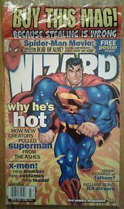 WIZARD COMICS MAGAZINE #102 March 2000 Sealed, Superman cover