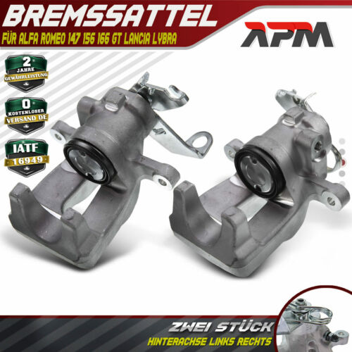 2x Bremssattel Bremszange Hinten links rechts für Alfa Romeo 147 156 Fiat Linea