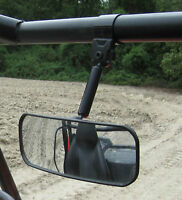 John Deere Gator Rear View Mirror Fully Adjustable Wide Angle Steel Clamp
