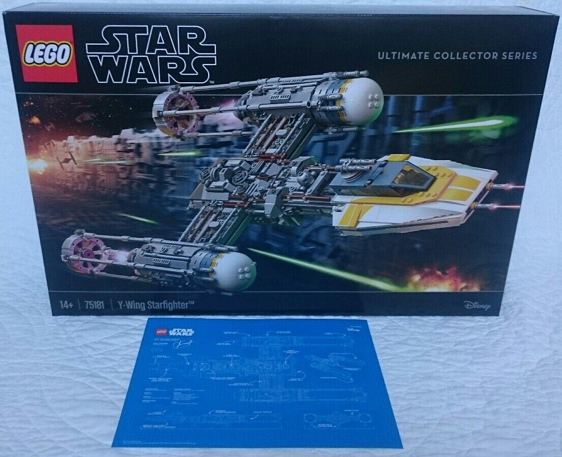 LEGO Star Wars UCS Y-Wing 75181 + RARE schwarz VIP CARD BlauPRINT - UPS NEXT DAY