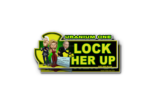 Lock Her Up Sticker Decal Anti Hillary Clinton Uranium One Fusion Russia 2 Pack