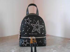 ddc70f26ffed New MICHAEL KORS Rhea Zip XS Small STARS STUD Convertible Backpack ...