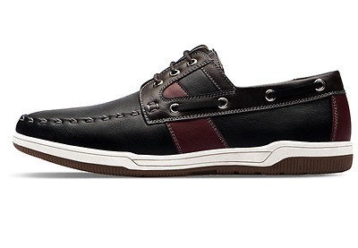 brand new polytec mens medius black brown loafer casual