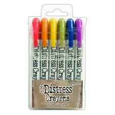 TIM HOLTZ Ranger Ink DISTRESS CRAYONS Set 2 47919 Peeled Paint Festive Berries