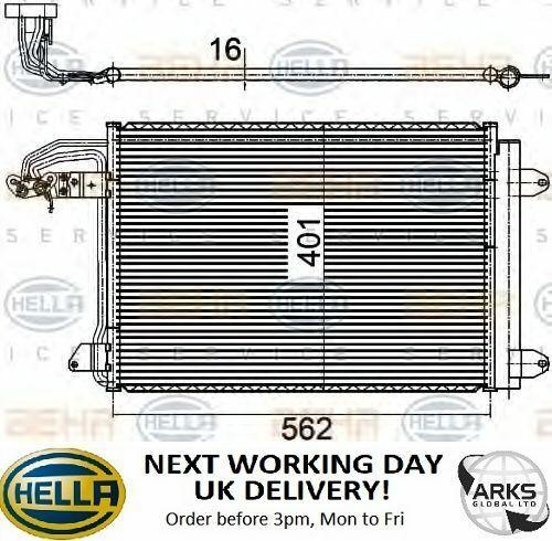 Hella Condenseur Longueur 562 mm 8FC351301-044 JOUR OUVRABLE SUIVANT au Royaume-Uni