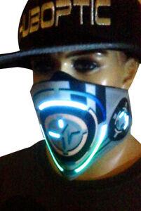 ORBIT-X16 SkyBlu Light Up Mask Halloween Party Purge LED DJ Mask EDM Rave Mask