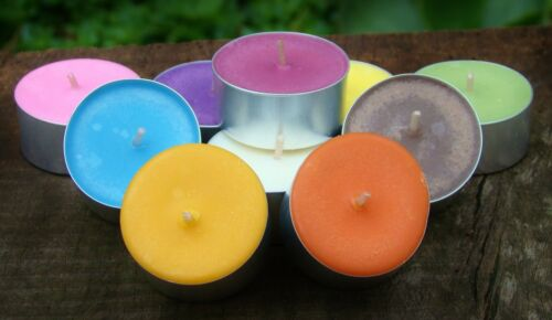 LONG BURNING /& CHEAPER BUYING IN BULK 100pk Scented ECO SOY TEA LIGHT CANDLES .