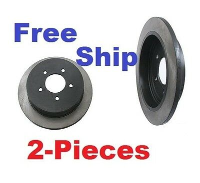 2-Pieces Rear Disc Brake Rotors Anti Corrision Coating Aftermarket