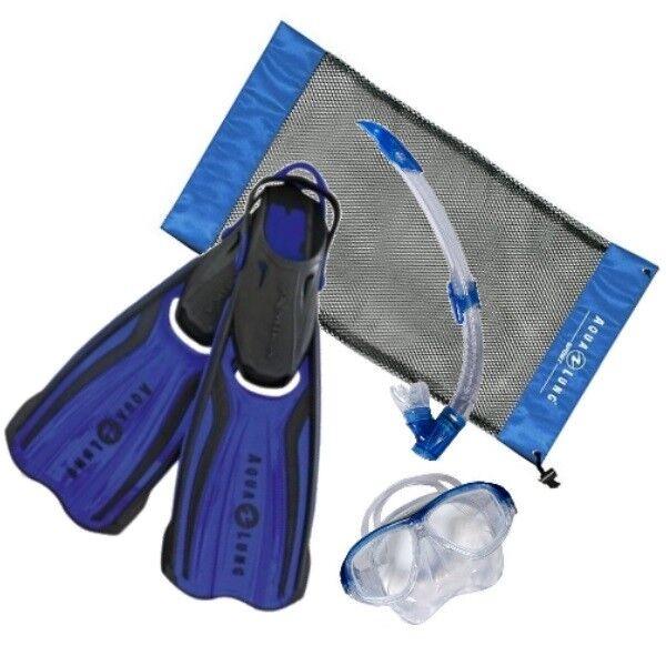 Aqualung Amika Set Blau-Schwarz + Tasche Schnorchel Flossen Taucherbrille XS-XL XS-XL XS-XL 382304
